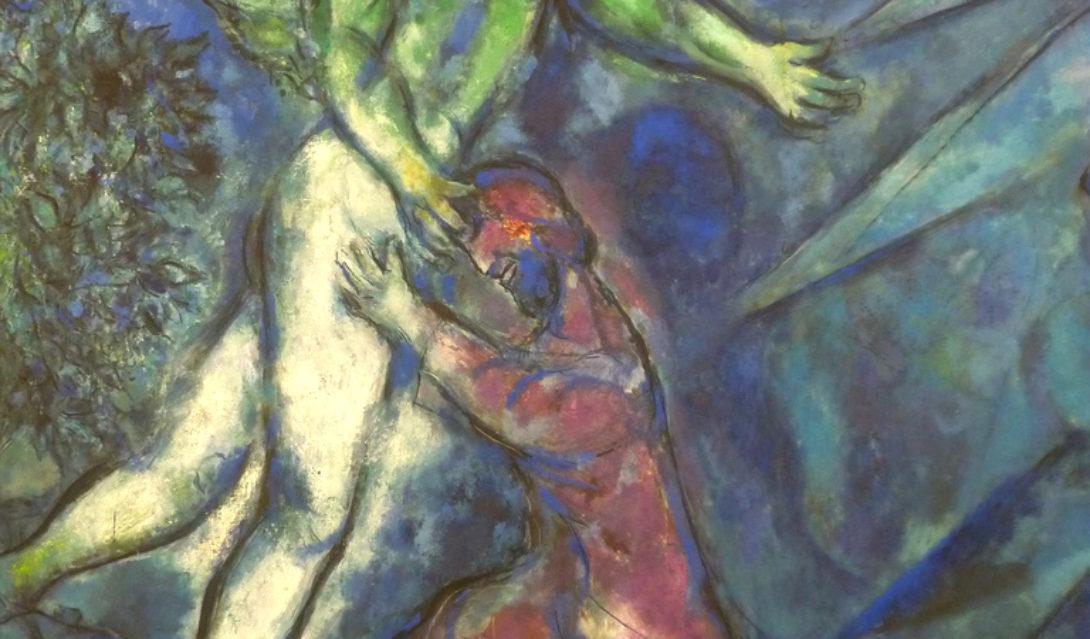 Chagall Jacob Wrestles Nice