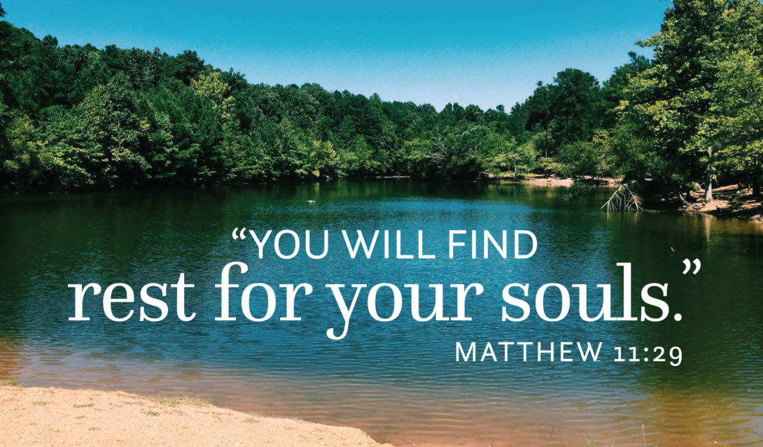 "Beach - ""You will find rest for your souls"" -Matthew 11:29"